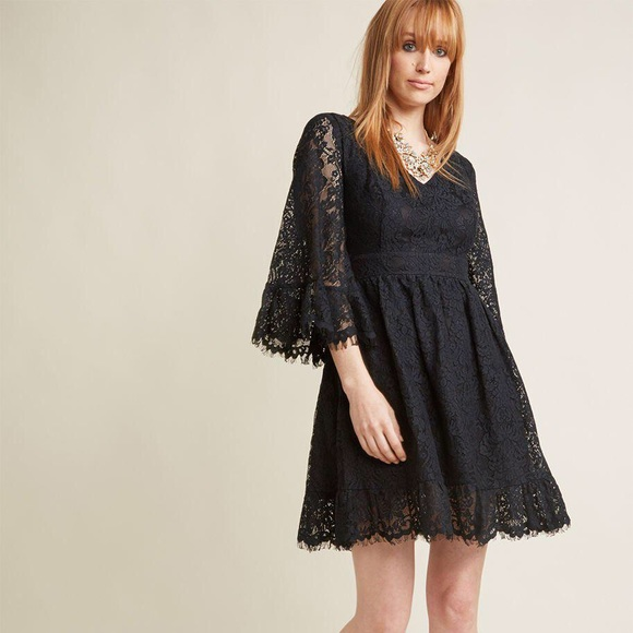 bdca792f5418a ModCloth Black Through The Bluebells Lace Dress M.  M 5c5f94cd194dad5374d24021